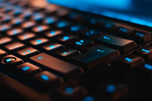 toetsenbord blauw licht